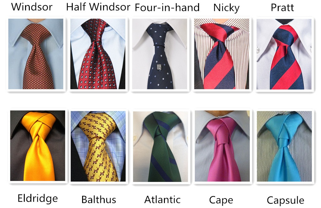 572d49acf850 Types of Tie Knots - Styles for Men